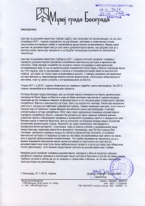 Писмо подршке Музеја града Београда ЦДС-у